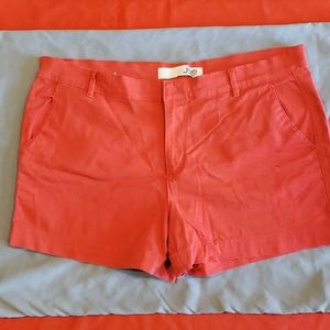 Joe Fresh orange shorts size 12